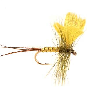 Dry fly, yellow fan wing mayfly