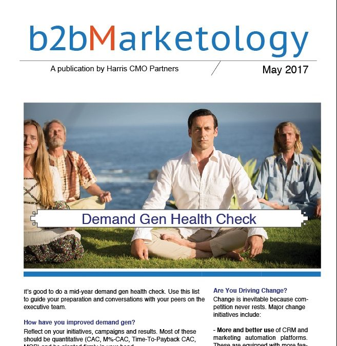 B2B Marketology, May 2017