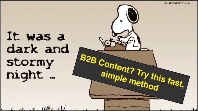 B2B Content? Try This Fast, Simple Technique
